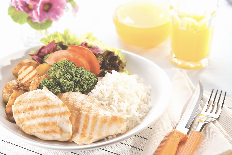 alimentos para uma refeição saudável