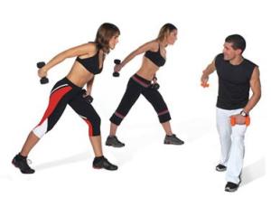 exercícios físicos com pesos