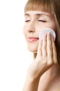limpando a pele