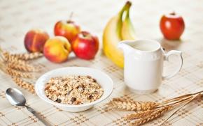 cereais no café da manhã saudável