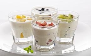 lanches escolares - iogurte com frutas