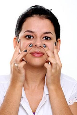 Desentupir nariz com massagem facial