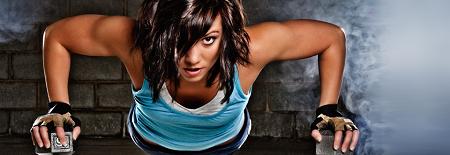Crossfit exercício de flexão de braços