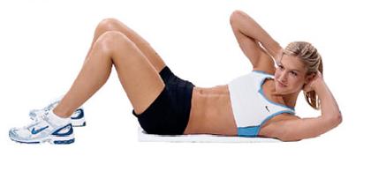Exercícios abdominais no solo