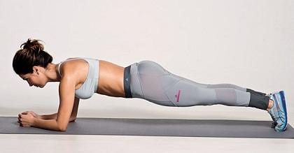 Exercícios abdominais prancha frontal