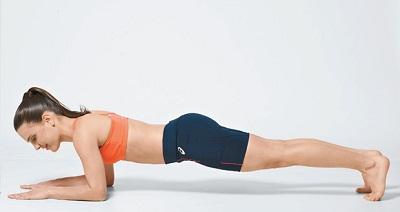 prancha frontal ajuda afinar a cintura