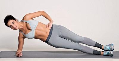 prancha lateral ajuda a afinar a cintura