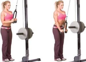 treinos tríceps pulley com corda