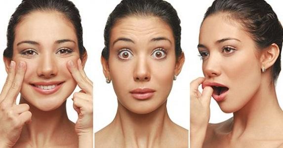 cuidados com a pele do rosto praticando a ginastica facial