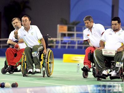 Bocha Esportes Adaptados para deficientes
