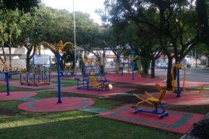 Academias em praças públicas para se exercitar